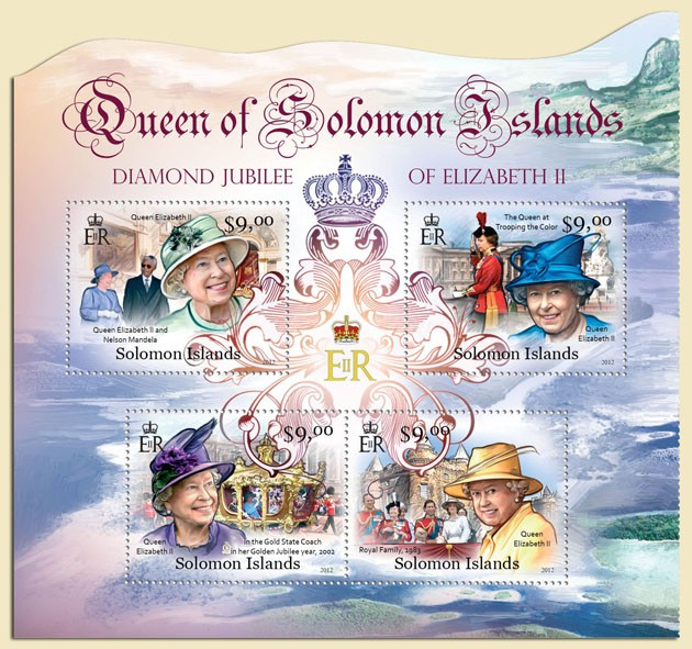 Elizabeth II - Issue of Solomon islands postage stamps