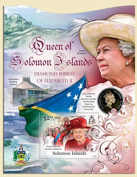 Elizabeth II - Issue of Solomon islands postage stamps