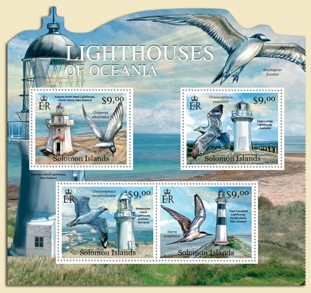 Lighthouses of Oceania - Issue of Solomon islands postage stamps