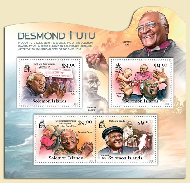 Desmond Tutu - Issue of Solomon islands postage stamps
