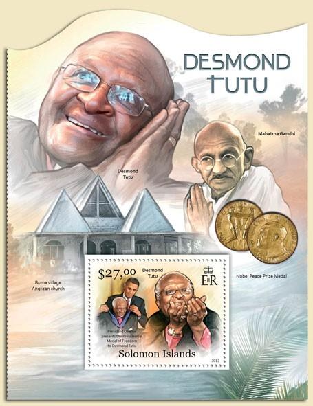 Desmond Tutu - Issue of Solomon islands postage stamps