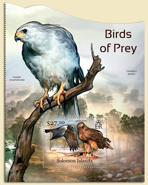 Birds of Prey - Issue of Solomon islands postage stamps