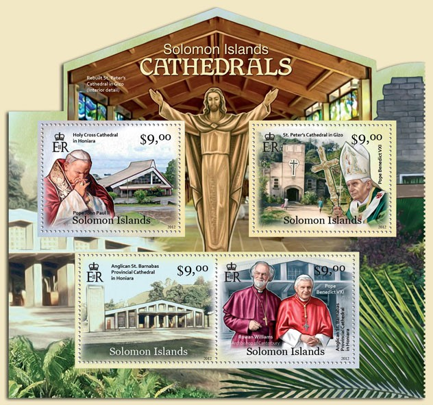 Solomon Islands Cathedrals - Issue of Solomon islands postage stamps