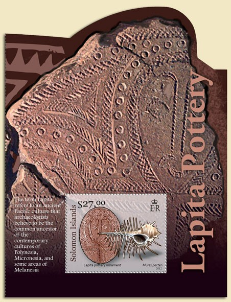 Lapita Pottery - Issue of Solomon islands postage stamps