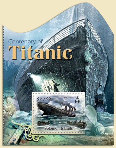 Centenary of Titanic - Issue of Solomon islands postage stamps