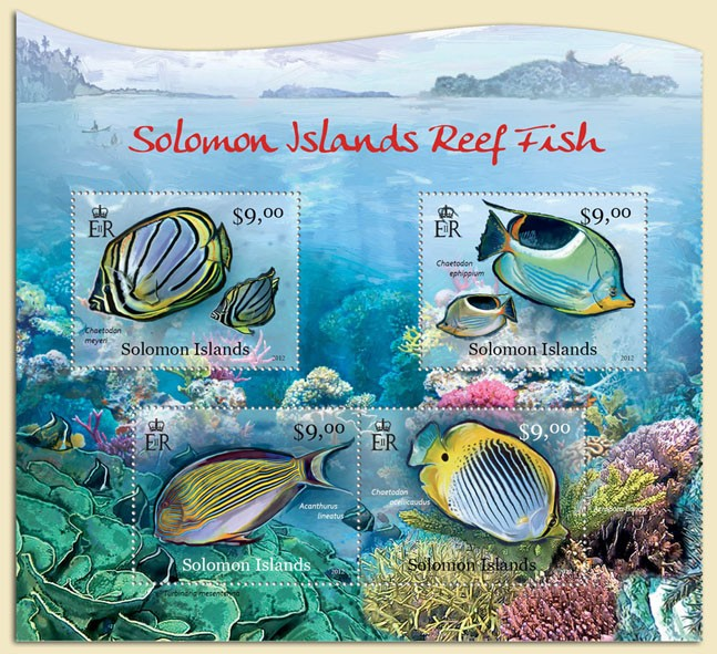 Reef Fish - Issue of Solomon islands postage stamps