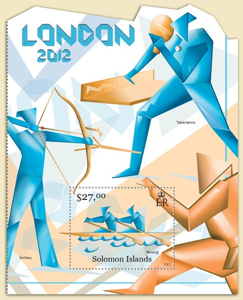 London 2012 - Issue of Solomon islands postage stamps