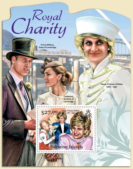 Royal Charity - Issue of Solomon islands postage stamps
