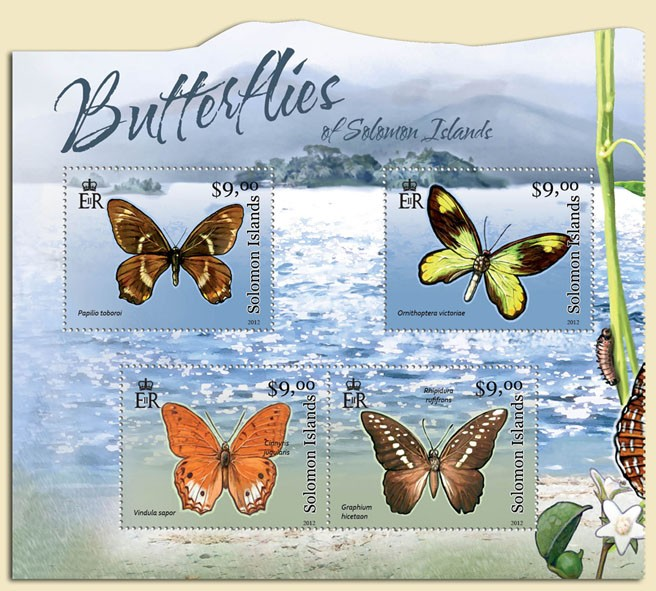 Butterflies  - Issue of Solomon islands postage stamps