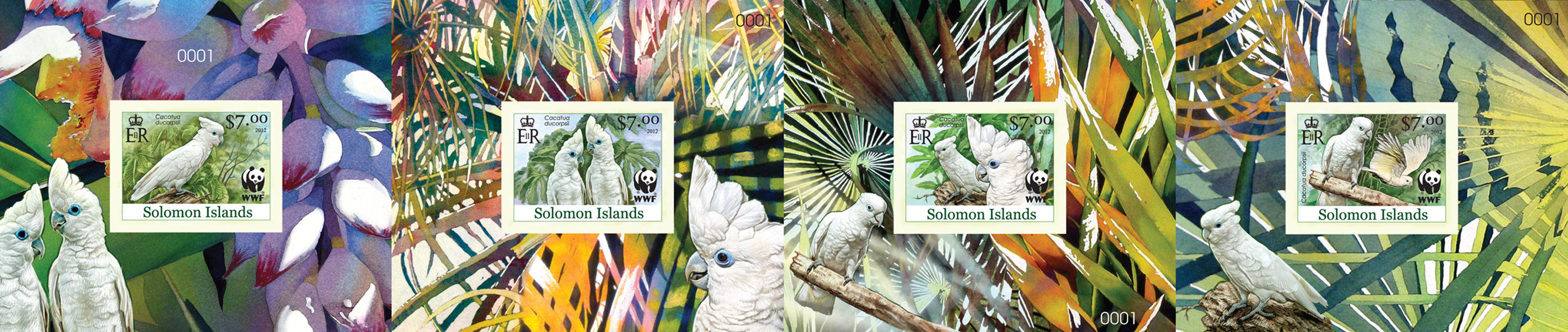 WWF – White Cokatoo - Issue of Solomon islands postage stamps