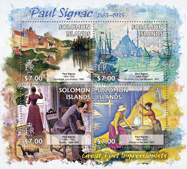 Paul Signac - Issue of Solomon islands postage stamps