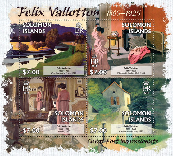 Felix Vallotton - Issue of Solomon islands postage stamps