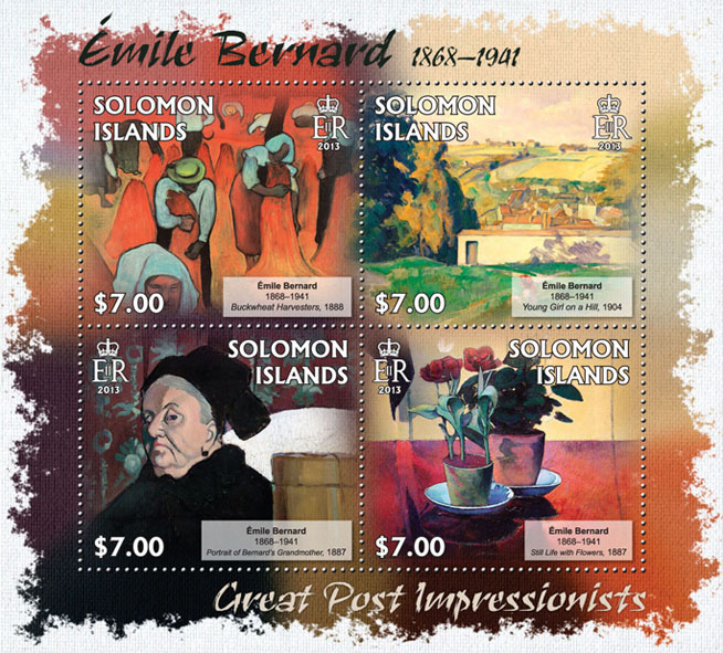 Emile Bernard - Issue of Solomon islands postage stamps