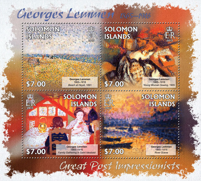 Georges Lemmen - Issue of Solomon islands postage stamps