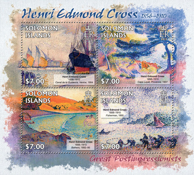 Henri Edmond Cross - Issue of Solomon islands postage stamps