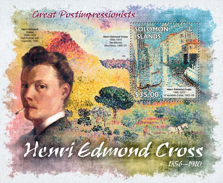 Henri Edmond Cross - Issue of Solomon islands postage stamps