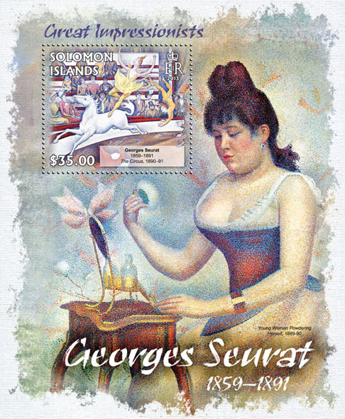 Georges Seurat - Issue of Solomon islands postage stamps