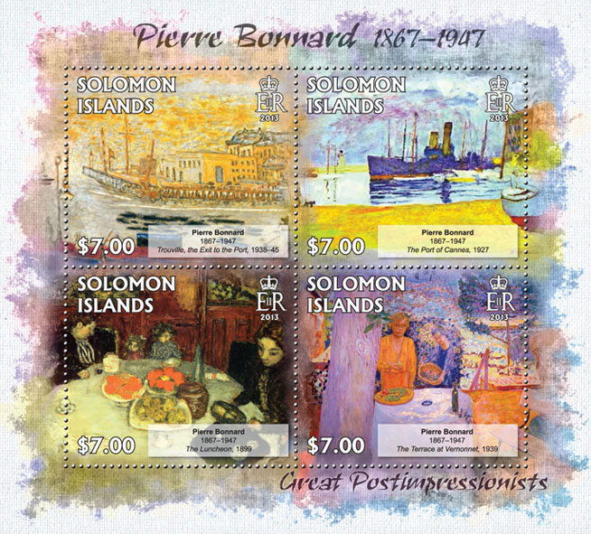 Pierre Bonnard - Issue of Solomon islands postage stamps