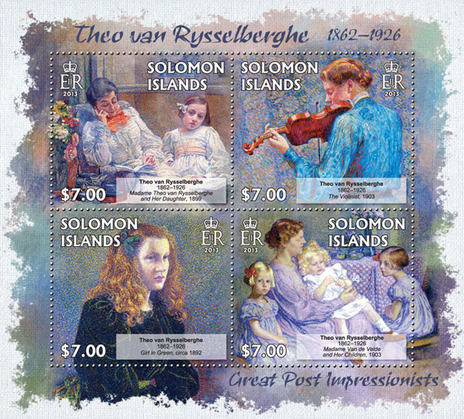 Theo van Rysselberghe - Issue of Solomon islands postage stamps