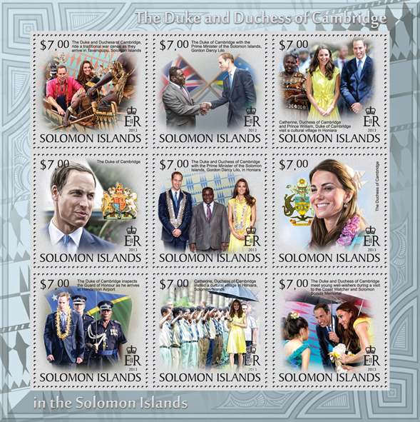 The Duke and Duchess of Cambridge in Solomon Island, I - Issue of Solomon islands postage stamps