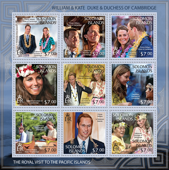 William & Kate Visit to the Pacific Islands, I - Issue of Solomon islands postage stamps