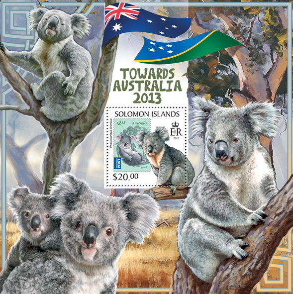 Towards Australia 2016 - Issue of Solomon islands postage stamps