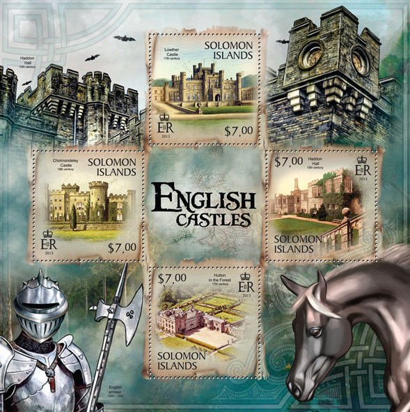 English Castles  - Issue of Solomon islands postage stamps
