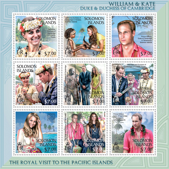 William & Kate Visit to the Pacific Islands, II - Issue of Solomon islands postage stamps