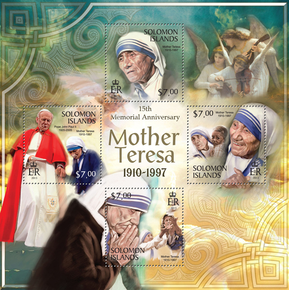 15th Anniversary of Mother Teresa  - Issue of Solomon islands postage stamps