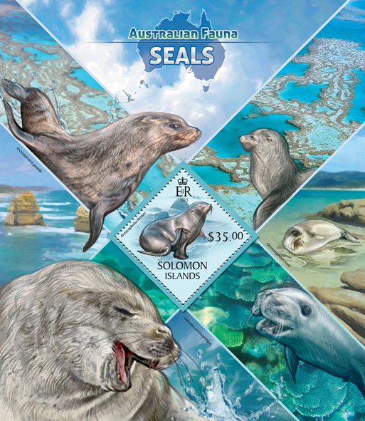 Seals  - Issue of Solomon islands postage stamps
