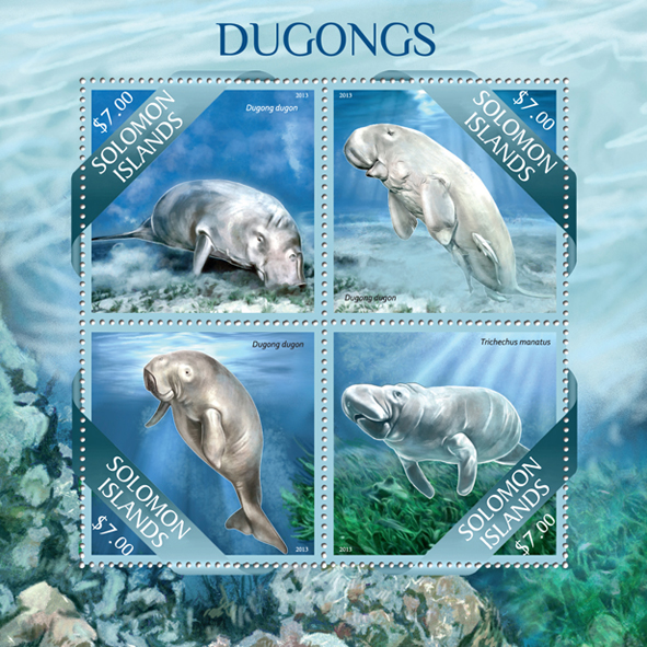 Dugongs - Issue of Solomon islands postage stamps