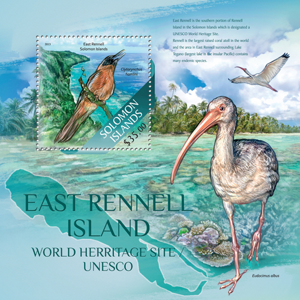 Rennell Island - Issue of Solomon islands postage stamps