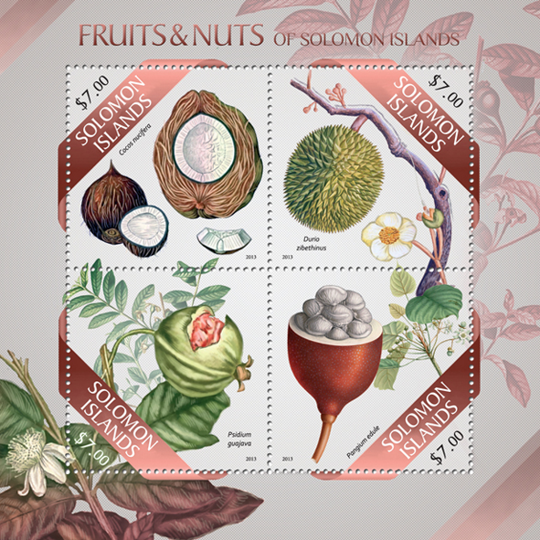 Fruits & Nuts - Issue of Solomon islands postage stamps