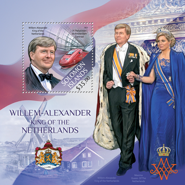 Willem-Alexander - Issue of Solomon islands postage stamps