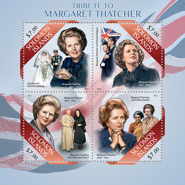 Margaret Thatcher - Issue of Solomon islands postage stamps