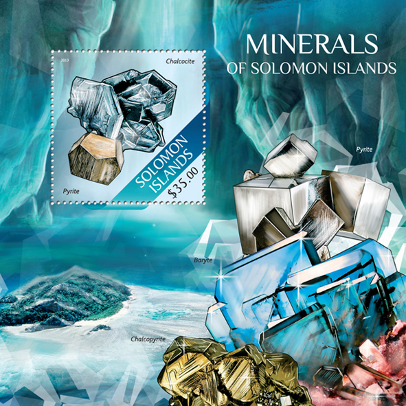 Minerals - Issue of Solomon islands postage stamps