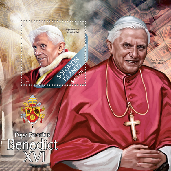 Benedict XVI - Issue of Solomon islands postage stamps
