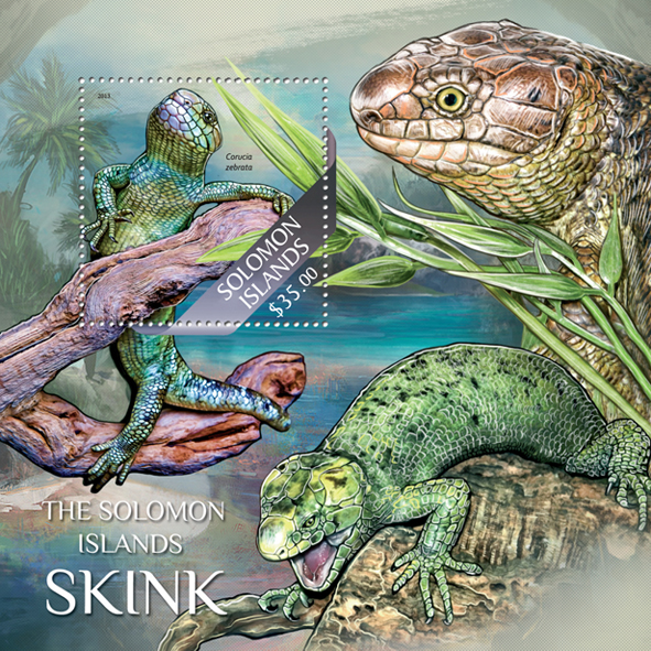 Skink - Issue of Solomon islands postage stamps