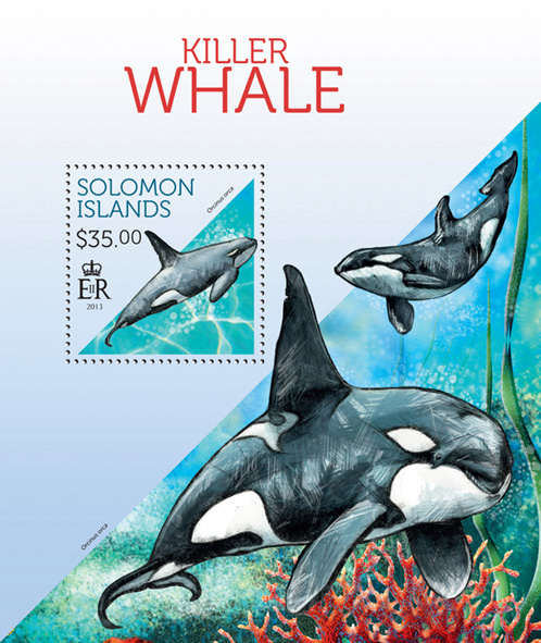 Orca - Issue of Solomon islands postage stamps