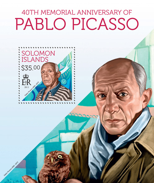Pablo Picasso - Issue of Solomon islands postage stamps