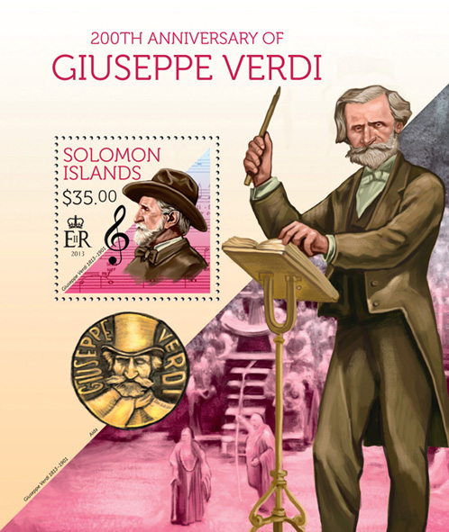 Giuseppe Verdi - Issue of Solomon islands postage stamps