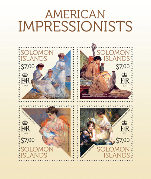 American Impressionists - Issue of Solomon islands postage stamps