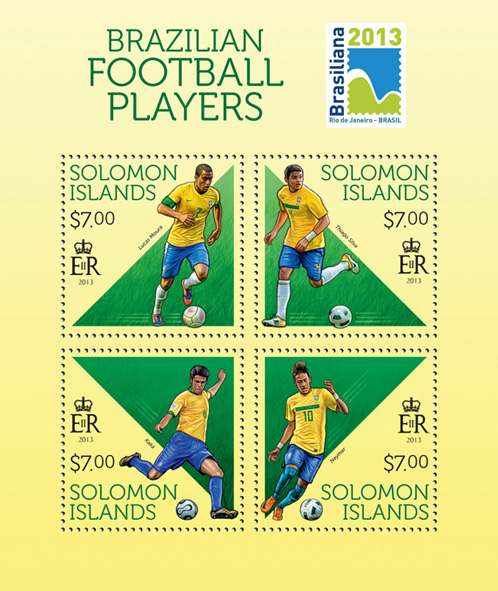 Football Players - Issue of Solomon islands postage stamps