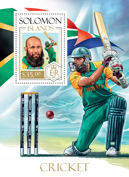Cricket - Issue of Solomon islands postage stamps