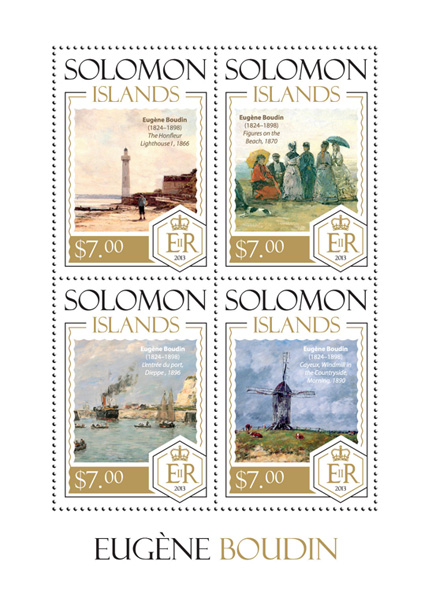 Eugene Boudin - Issue of Solomon islands postage stamps