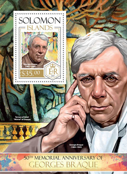 Georges Braque - Issue of Solomon islands postage stamps