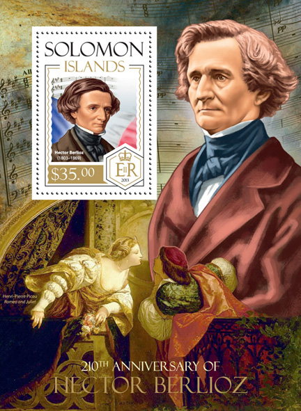 Hector Berlioz - Issue of Solomon islands postage stamps