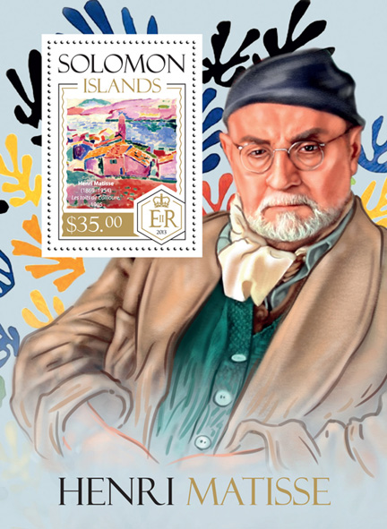 Henri Matisse - Issue of Solomon islands postage stamps