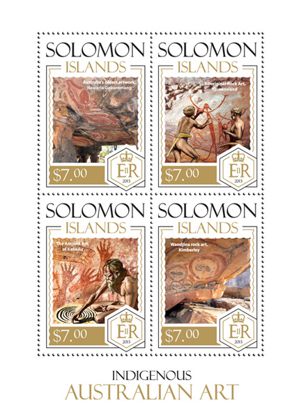 Art - Issue of Solomon islands postage stamps