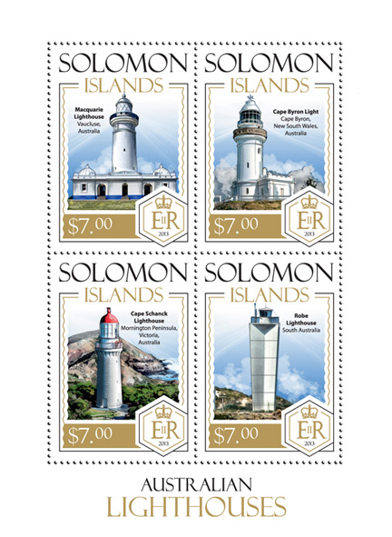 Lighthouses - Issue of Solomon islands postage stamps